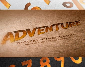 Digital Number/Symbol Adventure Scrapbooking Instant Download & PSD