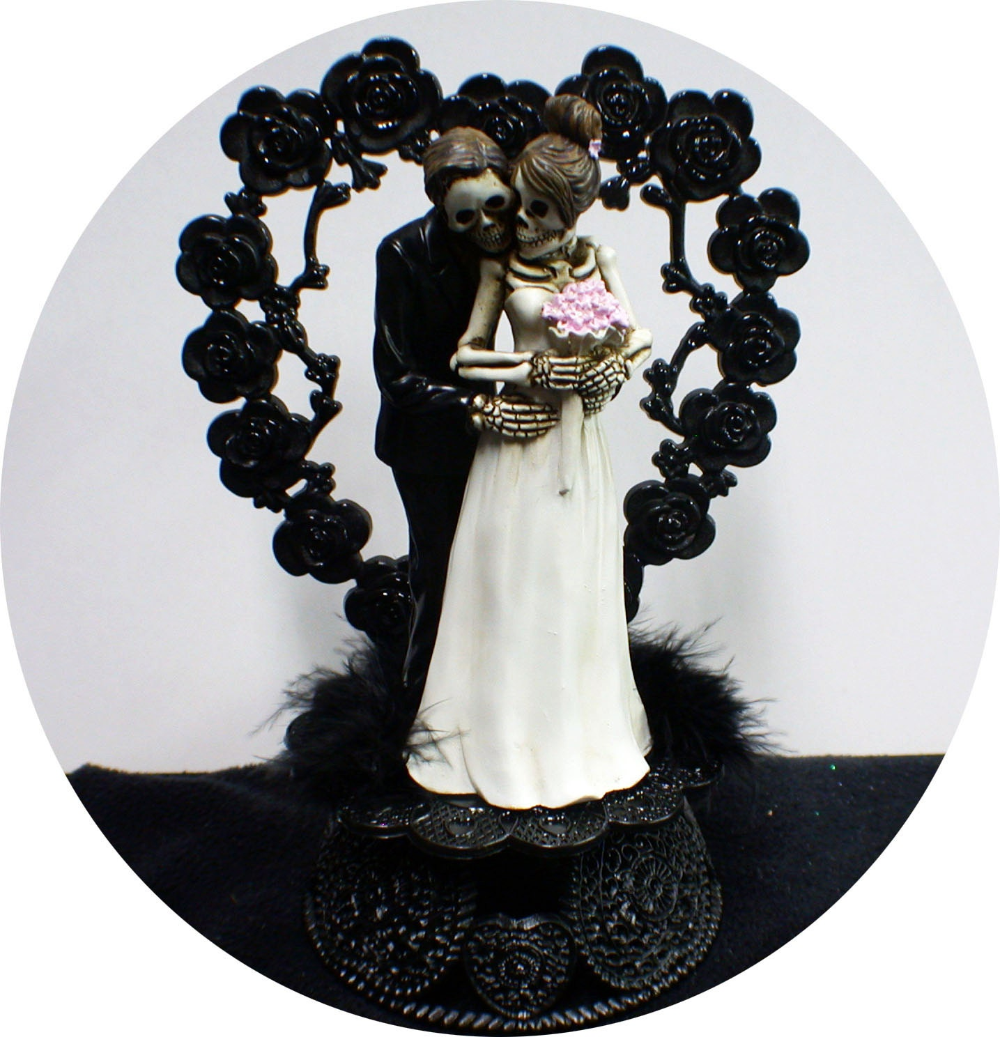 Day of the DEAD Halloween Wedding Cake Topper Funny Skeleton