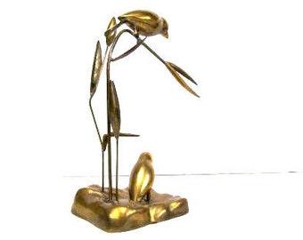 Brass Sculpture Birds in Marsh Dolbi Cashier