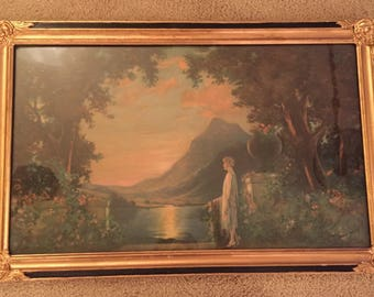 Charles Kendall Manning Lady at Sunset framed print