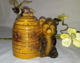 brown bear honey pot
