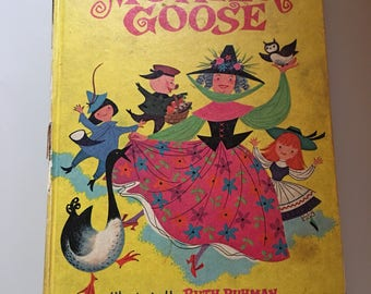 "Vintage ""the Merry Mother Goose"" book of nursery rhymes circa 1968"