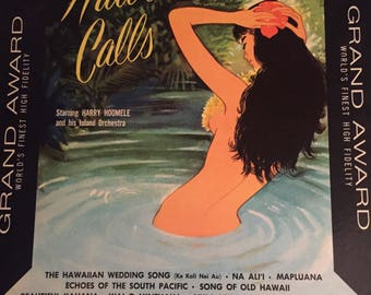 Hawaii Calls-Starring Harry Hoomele and his Island Orchestra-1956-Vinyl Record Album