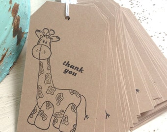 Cute Giraffe Favor Tags / Thank you / Baby Shower / Birthday