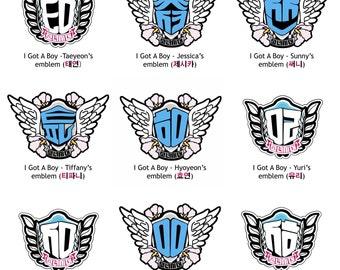 """SNSD Kpop, Kpop Girl Group, Girls Generation Kpop, Kpop Stickers, """"I Got A Boy"""" Emblem Stickers"""