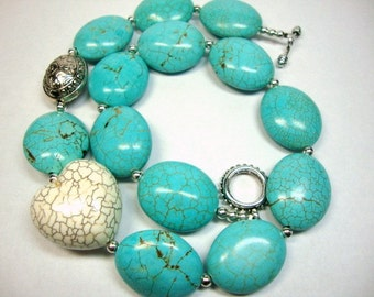 Turquoise Love Heart Necklace