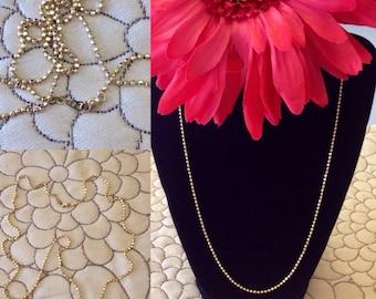 "14k Solid Yellow Gold Bead Ball Diamond Cut Chain Necklace   Heavy Disco Ball Gold Chain Necklace   21"" inch    7.8 grams"