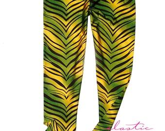 Colored Zebra Animal Print Spandex Leggings