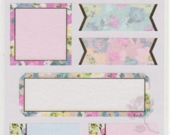 Masking Tape Stickers - Floral Stickers - Labels - Mind Wave - Reference A5361-64