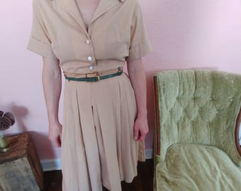 50s Vanity Fair Khaki Dress