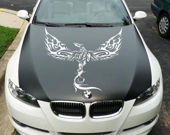 Rising Phoenix - Die Cut Vinyl Decal Sticker for cars, laptops, windows and walls, JDM DRIFT, Car Sticker, Decal, Phenix Fenix Phoenix