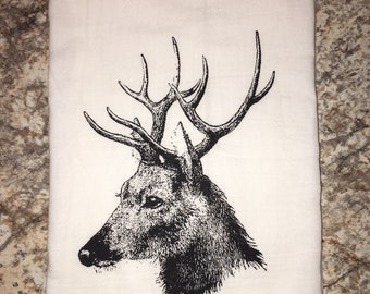 A Vintage Woodland Deer Dish Towel Flour Sack Tea Towel Wholesale