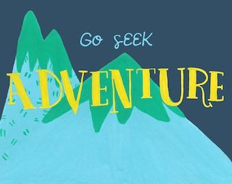 Seek Adventure - Blank Notecard - Greeting card