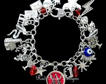 Vampire Academy Themed Charm Bracelet, VA