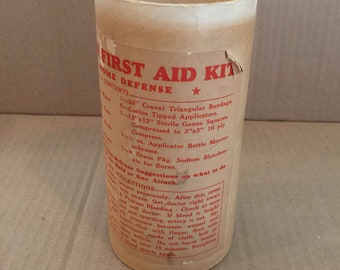 Vintage Civilian First Aid Kit For Home Defense