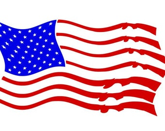 American flag in the wind DIGITAL download