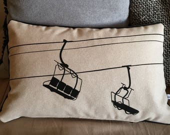 Ecru chair cushion