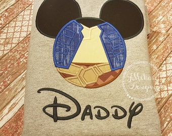 Han Solo Inspired Mouse Custom embroidered Disney Inspired Vacation Shirts for the Family! 36