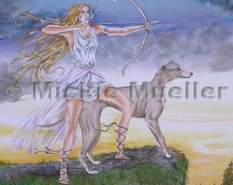 The Maiden Huntress limited edition print