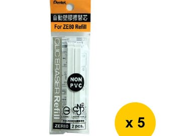 5 Packs - Pentel CLIC ZER80 Eraser Refills for ZE80/ZE81