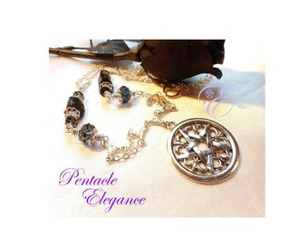 Pentacle Elegance Amulet / Necklace  - Black Tourmaline