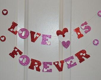 Mini magnet banner , Valentine's banner, Miniature banner, Magnet banner