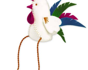 Rooster Figure - Cross Stitch Kit from RIOLIS Ref. no.:1583AC