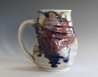 Handmade Coffee Mug TWISTED, 16 oz, Ceramic Coffee Mug, handthrown ceramic mug, stoneware pottery mug, unique coffee mug