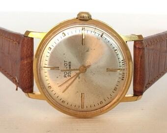 Mens watch Poljot GOLD PLATED - russian vintage watch -soviet union ussr watch - montre homme