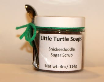 Snicker Doodle Sugar Scrub, body scrub, gift idea,4oz sugar scrub, 8oz sugar scrub, 16oz sugar scrub, cookie sugar scrub, Foot sugar scrub