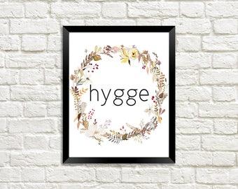 Hygge Wall Print, Hygge Print, Hygge Printable, Hygge Wall Art, Cozy Decor, Cozy Print, Cozy Wall Print, Hygge Print, Fall Printable