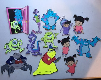 Monsters inc die cuts Set of 13