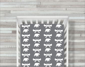 Woodland Changing Pad Cover Or Fitted Crib Sheet Hello Bear