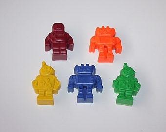 Robot Crayons, Crayons Gift Set, Colorful Crayons, Robots Gift for Kids, Birthday Gift for Boys/Girls, Children Favours