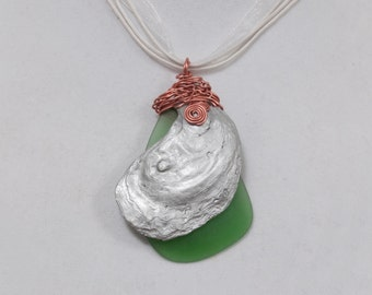 Silver Oyster Pendant Necklace