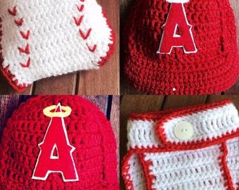LA Angeles Baby, Angeles baseball cap diaper cover, Newborn Angeles Hat, Baseball Diaper Cover, Baby Baseball Cap, Los Angeles
