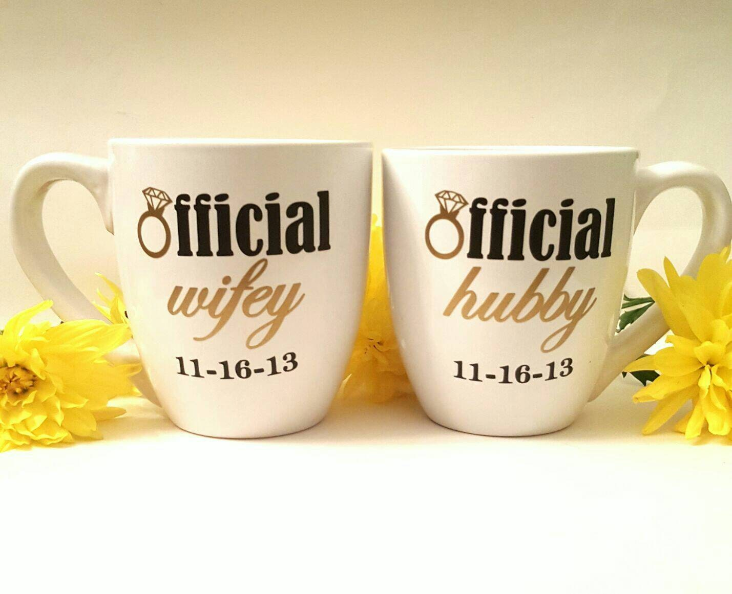 Wedding Gift For A Couple: Engagement Mug/ Engagement Gift/ Couples Mugs/ Wedding Gift