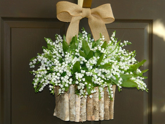 Spring Wreaths White Lily Of The Valley For Front Door Wreaths