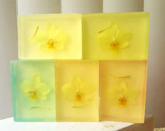 Orchid Soap - Double Sided Glycerin and Goat's Milk - Perfect Mother's Day Gift