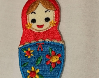 Babushka or Matroyshka or Russian Nesting Doll Embroidered patch