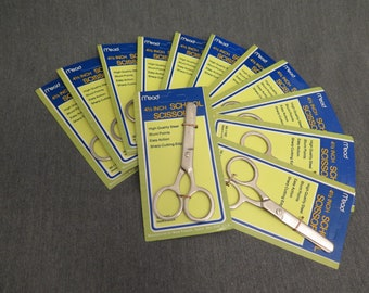 Box of Vintage Safety Scissors