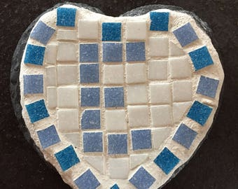 Letter 'E' slate mosaic. Gifts for him or her. Valentines gift