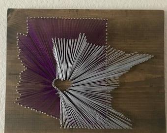 Custom States 'Love' string art