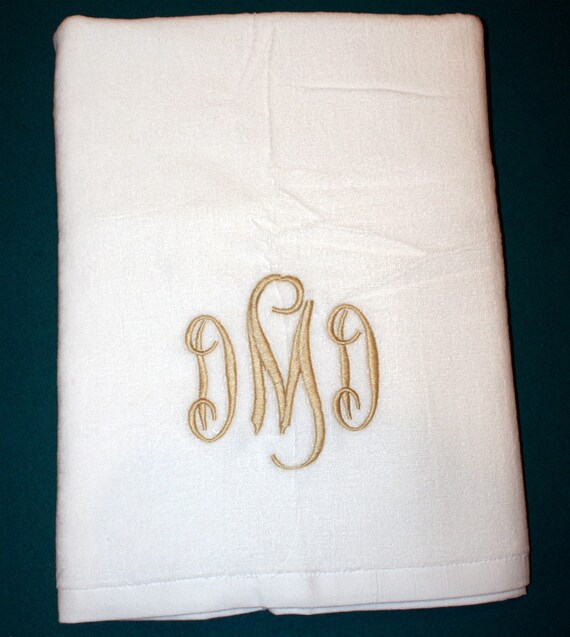 Monogrammed Beach Towel And Bag Set: Monogrammed Beach Towel Pool Towel Monogram Gift
