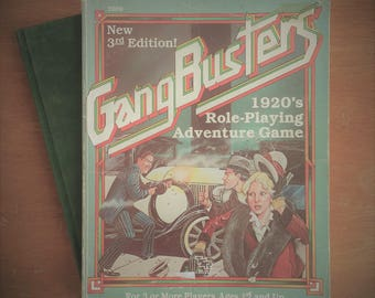 GangBusters Game Book/ Role Play Book/ Role Play Game/ Gangsters/ 1920s Role Play/ 1920s Game/ Gangerster Game