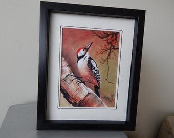 Woodpecker; Watercolour Prints