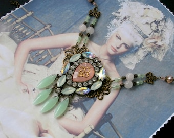 Victorian necklace, BAROQUE, Gatsby, packed, vintage wedding or anniversary