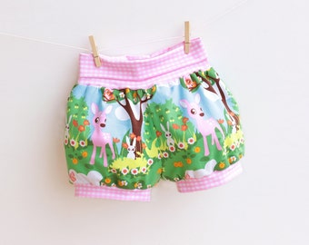AIR BALLOON Baby Children Bubble  Shorts pattern Pdf sewing , Jersey Knit Diaper Cover Bloomers Toddler newborn 3 6-9 12 18m 1 2 3 4 5 6 yrs