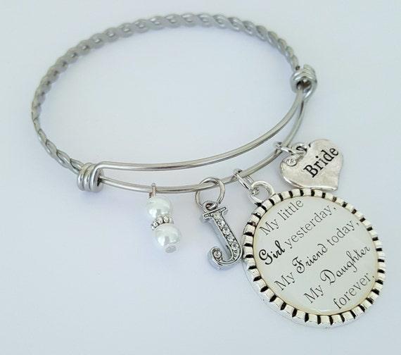 Bride Gift / Gift for Bride / Gift for Bride from Mom / Dad / Wedding Keepsake / Bride Gift from Mom / Dad / Bride Bangle Bracelet