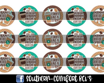 Coffee Sayings Bottle Cap Images